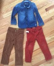 BABY GAP 3pc Outfit Lot - CORDUROY PANTS & BUTTON-DOWN DENIM SHIRT Size ... - $39.50