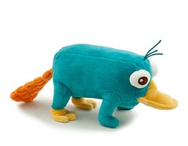 Disney Phineas and Ferb - Plush Mini Bean Bag Toy - 10in PERRY by Disney image 2