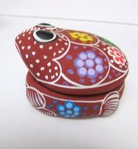 Mexico Cozumel TerraCotta Pottery Frog Signed Trinket Storage Jewelry Bo... - $47.95