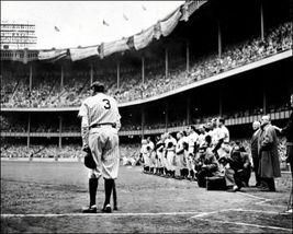 Babe Ruth Farewell 1947 New York Yankees O3D 8X10 BW Baseball Memorabili... - $6.99