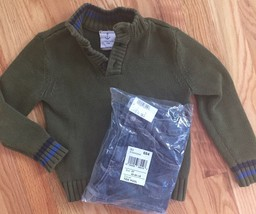2pc Outfit Lands' End Pullover Cotton Sweater + NEW The Children's Place... - $24.26