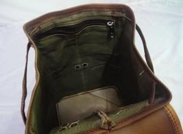 """13"""" High Vintage Leather Rucksack Handmade Backpack Shoulder Bag Book Bag image 6"""