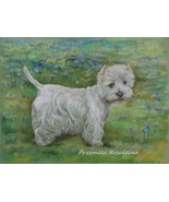Custom dog portrait on a landscape, doble pets portrait, animals pastel ... - $168.00