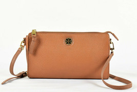 Tory Burch Robinson Leather Wallet Crossbody Bag - Brown (Retail $248) - $127.71