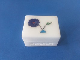 "2""x1.5x1 Makrana Marble Jewelry Trinket Box Inlay work Home Decor Free S... - $10.00"