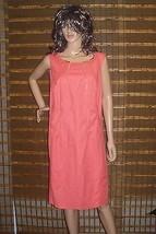 Calvin Klein Modern Essentials Porcelain Rose Shift Zipper Dress 18 W NW... - $52.60