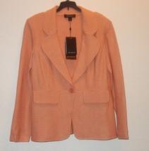 St John Knits Black Label Hemp Knit Mandarin Jacket Size 14 NEW $1295 - $484.11