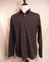 John Varvatos USA Mens Men's Gray Long Sleeve Button Front Shirt Size XL - $37.22