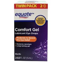 Equate Comfort Gel Lubricant Eye Drops, 0.5 fl oz, 2 count - $15.88