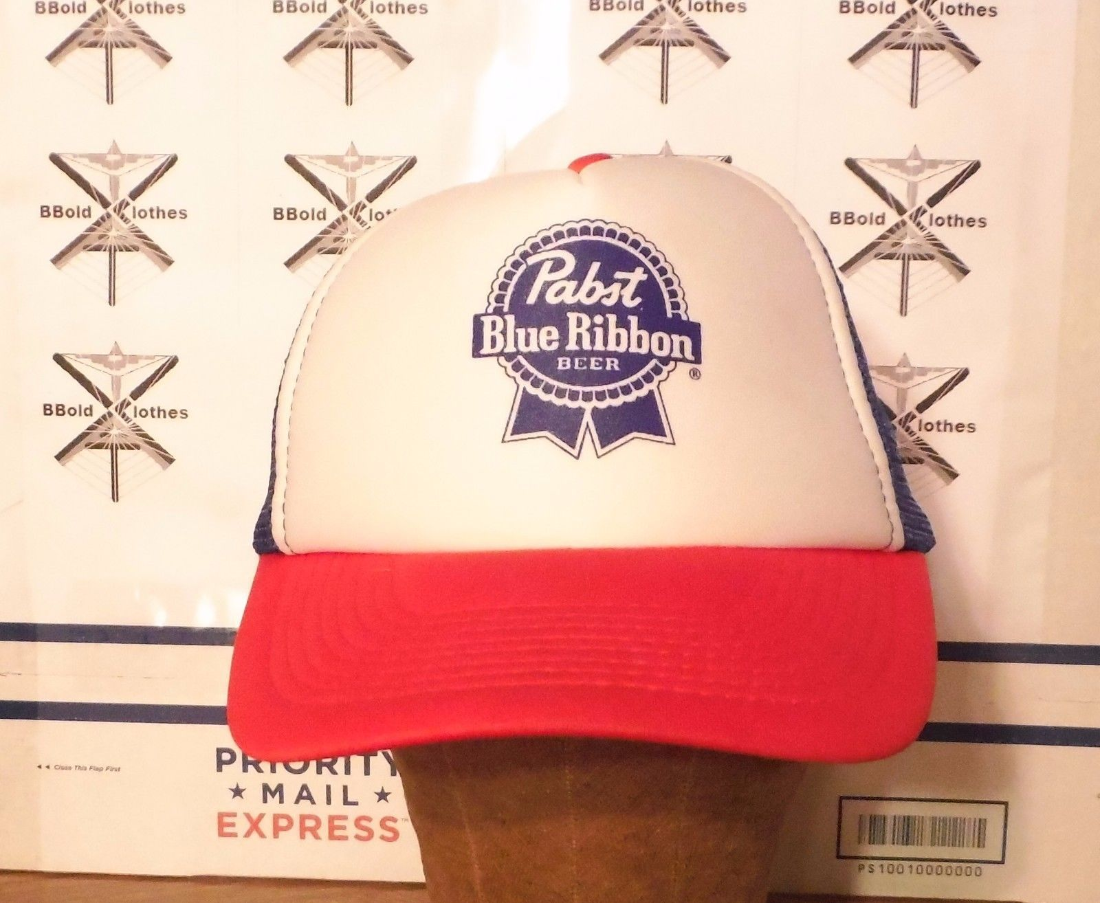 1722346568b4a S l1600. S l1600. Previous. Vintage Pabst Blue Ribbon Beer Trucker Mesh Snapback  Hat Baseball Cap by Otto