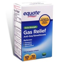 Equate Extra Strength Gas Relief, 125 mg, 72ct - $5.85