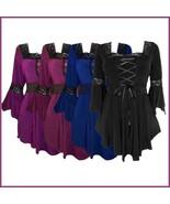 Faire Maidens Lace Up Bodice Flare Sleeves Victorian Renaissance Festiva... - $68.95