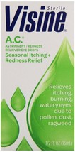 Visine Astringent Redness Reliever Seasonal Relief A.C. Eye Drops, 0.5 oz - $6.79