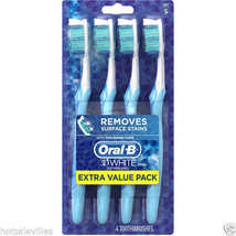 Oral-B 3D White Vivid Soft Toothbrushes, 4 count - $14.01