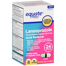 Equate Lansoprazole Acid Reducer Capsules, 14 c... - $10.44
