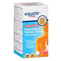 Equate Famotidine Acid Reducer Tablets, 20mg, 2... - $4.67