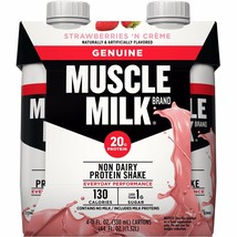 Muscle Milk Genuine Nutritional Strawberries 'n Creme Shake, 11 oz, 4 Ct - $12.19