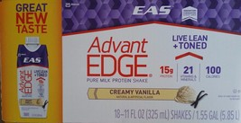 EAS AdvantEdge Carb Control Ready-to-Drink Shake, French Vanilla (18 Sha... - $28.60