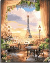 """Paris View 16X20"""" Paint By Number Kit DIY Acrylic Painting on Canvas Unframed - $8.99"""