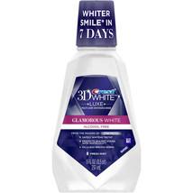 Crest 3D White Glamorous White Fresh Mint Flavor Mouthwash, 8 fl oz - $6.34