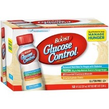 Boost Glucose Control Very Vanilla Nutritional Drink, 8 fl oz, 12 count - $23.04