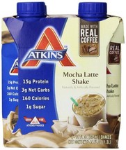 Atkins Advantage Mocha Latte Shake, 11 oz, 4 count - $8.91