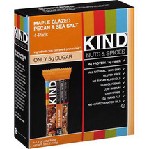 KIND Maple Glazed Pecan & Sea Salt Bars, 1.4 oz, 4 count      (W5149) - $8.59