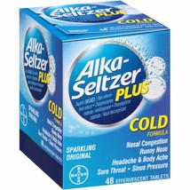 Alka-Seltzer Plus Cold Formula Tablets, 48 count - $11.97