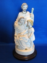 Holy Family, Jesus Reads Scripture Religious Statue Figurine Signed, Mar... - $30.00