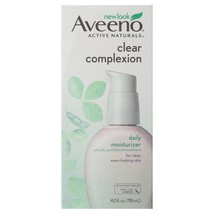 Aveeno Clear Complexion Daily Moisturizer, Pump Facial Moisturizers, 4 oz - $19.86