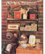 Kitchen Potpourri Fruit Vegetable June Grigg X-Stitch Pattern 30 Days to... - $2.04