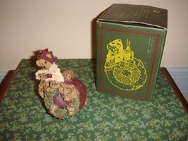 Boyds Bearstone Edmund Deck The Halls Christmas Ornament - $14.99