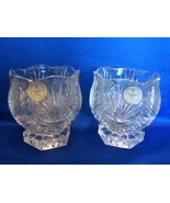 "Crystal Clear Signatures: 2 Lead Crystal Votive Candle Holders ""Kara""  3... - $12.00"