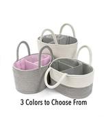 "BASKETCASE""Best Quality"" Utility Basket Diaper Caddy White with Gray Str... - $29.01"