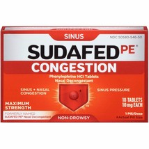 Sudafed PE Congestion Maximum Strength Sinus + ... - $9.67