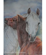 Custom horse portrait, Pastel drawing, Equestrian Art from photos, Horse... - $126.00