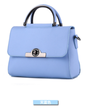 Sky Blue Sweet Shoulder Bags Medium Fashion Leather Tote Bags 12 Color 0... - $39.99