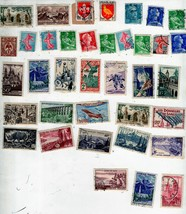 Stamps -84 French & Italian Stamps(35 -French Stamps & 49 Italian Stamps... - $2.95