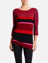 The Limited zigzag striped wool blend sweater tunic, size L, New - $25.00
