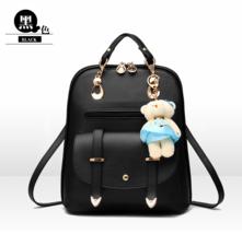 10 Color Girl's School Backpacks Medium Leather Bookbags With Bear 006-1 - $40.00