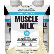 Muscle Milk 100 Calories Vanilla Creme Sugar Free 8.25 fl oz, 4 count - $10.39
