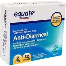 Equate Anti-Diarrheal Soft Gelatin Capsules, 2 ... - $3.39