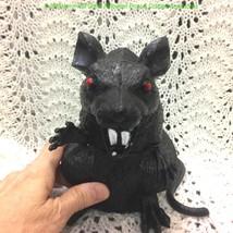 Hunchback BIG BLACK RAT Standing Horror Monster Rodent Prop Decoration-7... - $6.90
