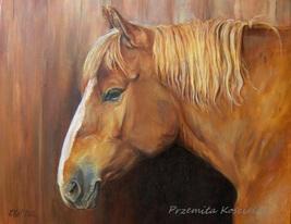 Custom horse portrait, Oil painting on canvas, Horse head paintng, Anima... - $230.00