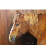 Custom horse portrait, Oil painting on canvas, Horse head paintng, Anima... - $230.00