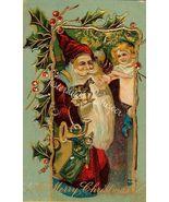 Victorian c.1910 Chistmas SANTA Toys postcard P150 - $9.99