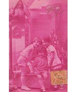 Edwardian 3 SISTERS Father Xmas FRENCH postcard P074 - $9.99