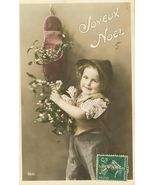 Edwardian Sweet Young CHILD FRENCH postcard P076 - $9.99