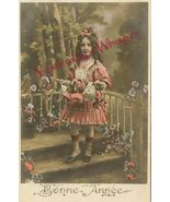 Edwardian YOUNG GIRL Ringlets French ORG postcard P106 - $9.99