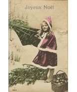 Edwardian YOUNG GIRL Rain Umbrella FRENCH postcard P073 - $9.99